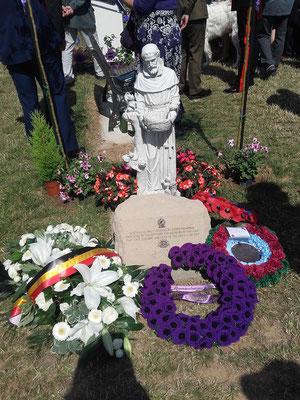 21 juillet 2017 : Pozières : cérémonie franco-australienne inauguration des nouveaux monuments dédiés à la mémoire des animaux 14-18