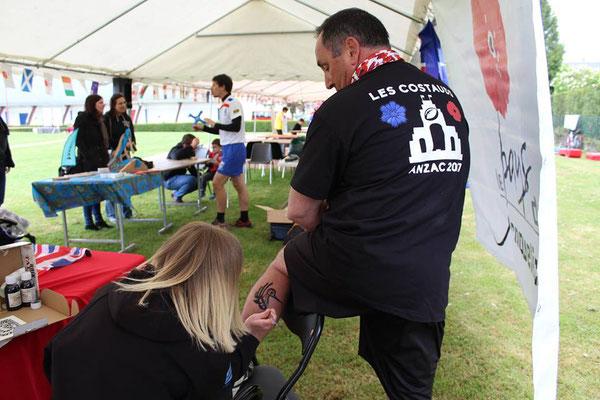du 21 au 28 Avril 2017 : semaine australienne : Albert - 22 avril : match de rugby flag commémoratif : ateliers de tatouages éphémères