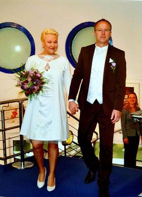 Brautkleid knielang weiß