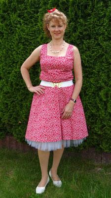 Damenkleid Kleid Petticoat