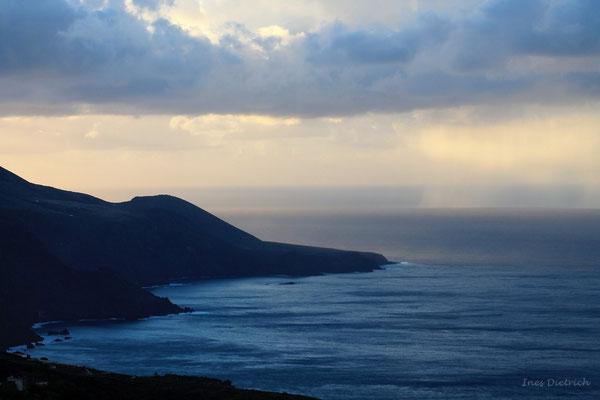 Regen an der Punta Juan Adalid