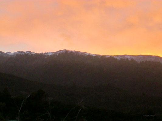 Abendlicher Blick gen Roque de los Muchachos