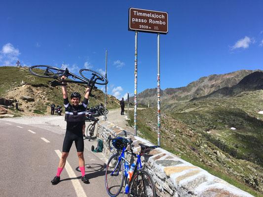 Mit dem Rennrad auf dem Timmelsjoch (2474 HM) - Südtirol    August 2021