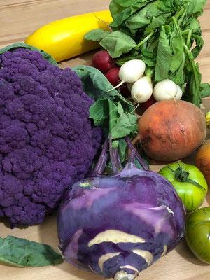 In jeder Saison und auch tagesaktuell anders: Das Angebot an Obst und Gemüse.