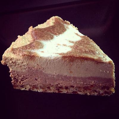 Und fertig ist ein kleines Stück Kürbis-Kaffee-Torte - perfekt zu jedem Anlass zu genießen.
