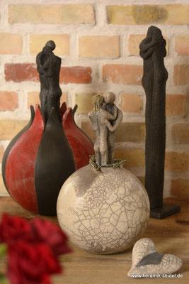 Rakubrand, Rauchbrand, Keramik Atelier Monika Seidel, Töpferei, Kurse