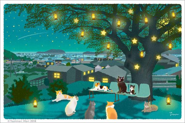 たびねこイラスト-36 クリスマスソング