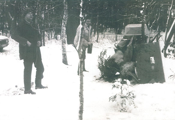 Pit Morell mit Horst Janssen in Worpswede 1968