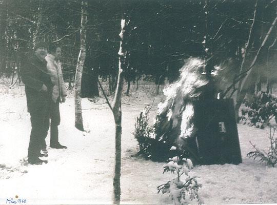 Pit Morell mit Horst Janssen, Worpswede 1968