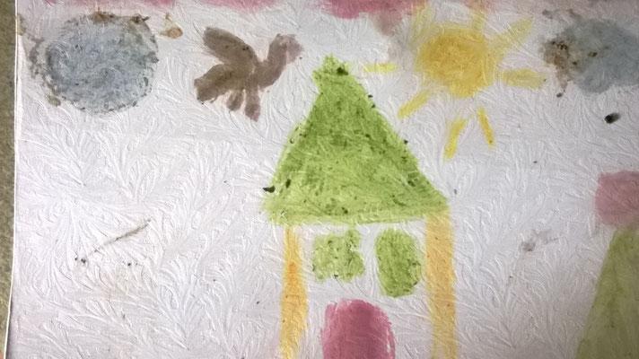 Pittura con elementi della natura