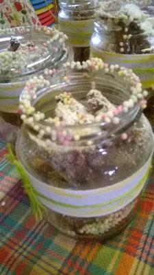 Biscottini nel barattolo decorato