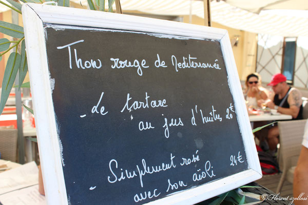 Ardoise restaurants les goélands