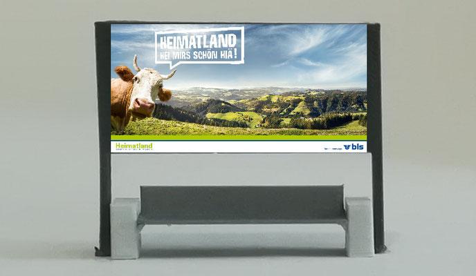 Doppelsitzbank Typ Rail H0 Werbetafel H0
