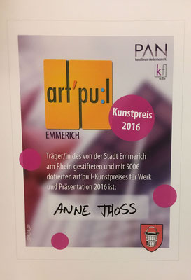 2016 Art Pu:l, Emmerich Kunstpreis der Stadt Emmerich