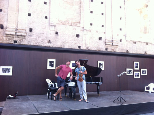 vor der Probe in Cordoba