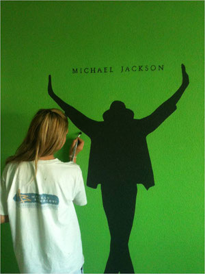 Lehrtochter mit Michael Jackson