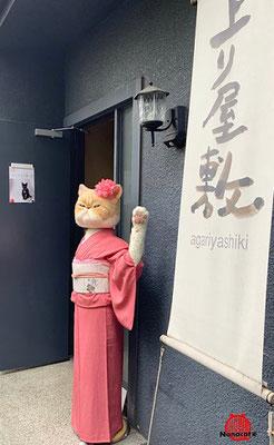初個展【ありがとう 猫】2019.6 ギャラリー上り屋敷 入口