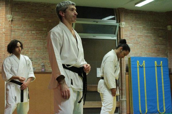 De gauche à droite Antonin, David et Enrique Saint Sernin Karate Toulouse