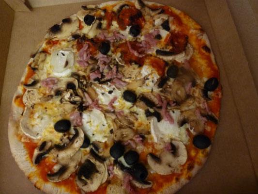 Magnifique pizza! Elle a dû être bonne!