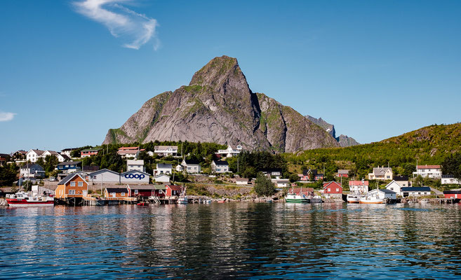 Reine as seen from the ferry