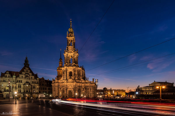 """Ancient Lightstreaks"" - ""Hofkirche"", ""Semper Opera"" and ""Zwinger"" Dresden, Germany"