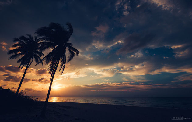 Caribbean sunset.