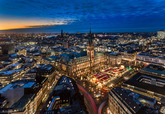 Blue hour christmas-market - Hamburg, Germany