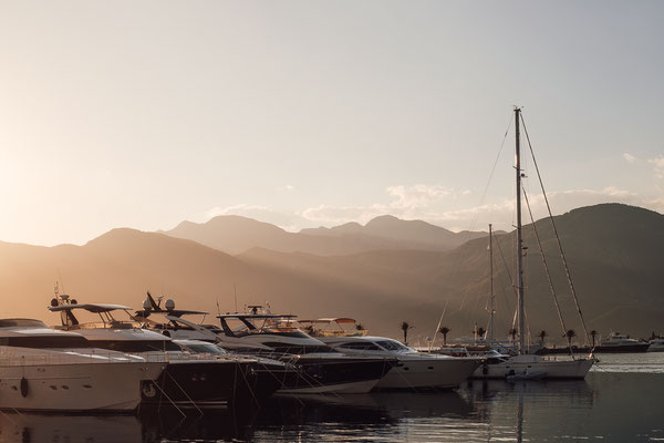 The new marina in Tivat