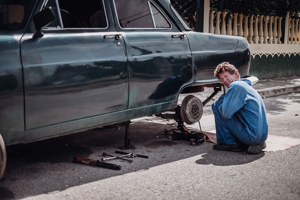 What isn't illegal will be done. Repairing you're car on the street evidently isn't?