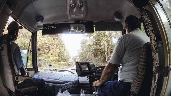 Bus driving