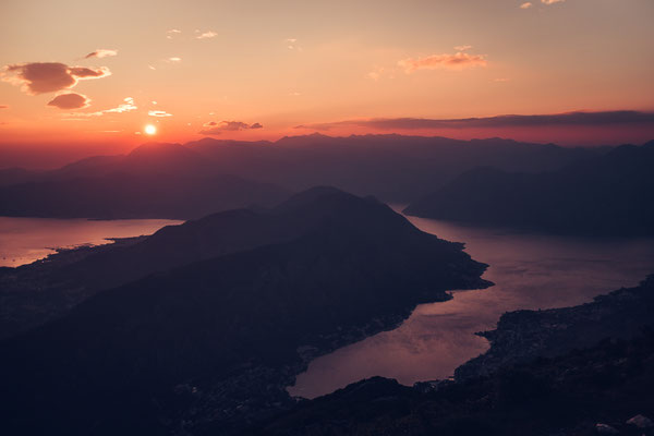 Some views you come along on the winding road down to Kotor