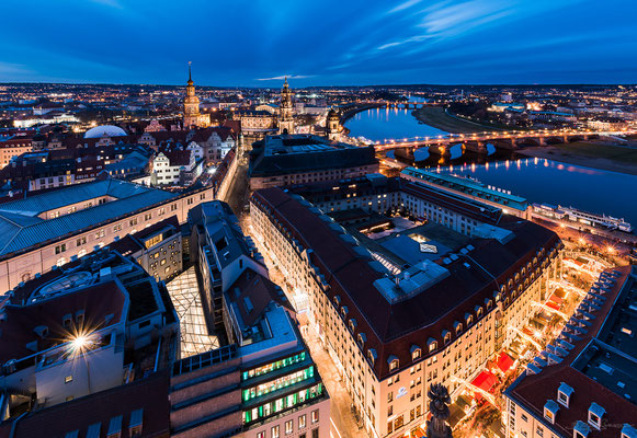 View from the Frauenkirche - Dresden, Germany
