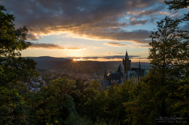 """Last rays of the sun"" - Wernigerode Castle, Saxony-Anhalt, Germany"