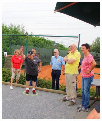 """Unser Boule Team vom Verein """"Altenhagen weltoffen""""."""