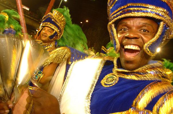 Rio de Janeiro, In Rios berühmten Sambódromo, der Arena, wo die grossen Karnevalsumzüge stattfinden.