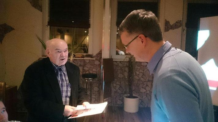 65 Jahre ist bereits sein Papa Mitglied - Otto Kalinka