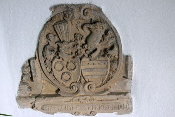 Wappen der Ritter von der Lippe, genannt Huen, in der Marienkapelle in Altwindeck