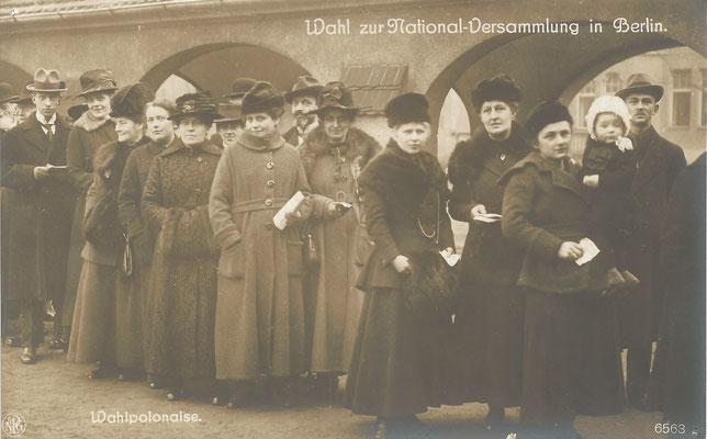 Erste Wahl mit Frauenbeteiligung am 19.1.1919 (© Friedrich-Ebert-Gedenkstätte)