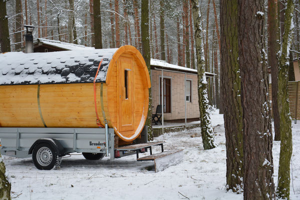 Mobile Sauna da wo Sauna fällt