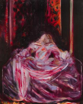 Margarita5 この暗闇はぜんぶ私のもの/Margarita5 The Darkness Is Mine oil painting/2013/1000×803(F40) 撮影/齋藤 裕也