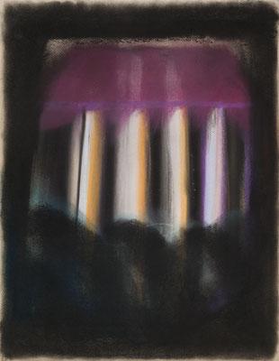 浮かび上がる小さい家/Floating Little House pastel on paper/2017 53.0×41.0(P10) 撮影/齋藤 裕也 個人蔵