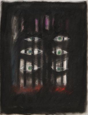 小さい家のためのスケッチ4/Sketch for a lLittle House4 pastel on paper/2017 53.0×41.0(P10) 撮影/齋藤 裕也
