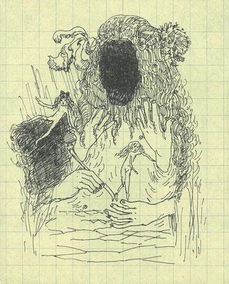 ばかばかしい日々、失望からも何かを生み出さなくちゃいけない pen/2015 20.5×16.5 個人蔵
