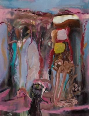 鳥居  Oil on Canvas P10(53×41) 撮影/齋藤 裕也 個人蔵