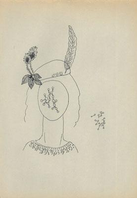 羽のある帽子 pen 2000-2004/25×17.2