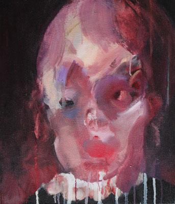 Portrait1 oil painting/2015/53.0×45.5(F10) 個人蔵