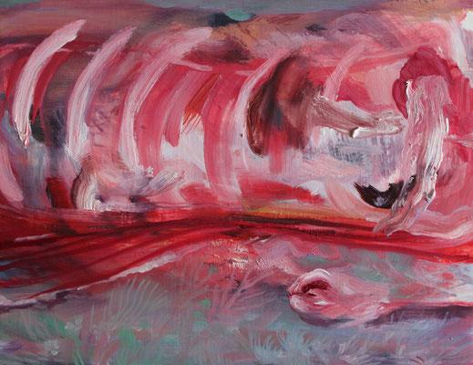 生まれたときのこと/When I was Born oil painting/2015/31.8×41.0(F6) 個人蔵