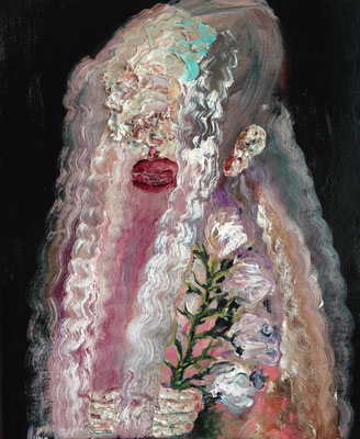 触覚の花嫁/Bride of the tactile oil painting/2016/606×500(F12) 個人蔵