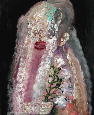 触覚の花嫁/Bride of the Tactile oil painting/2016/60.6×50.0(F12) 個人蔵