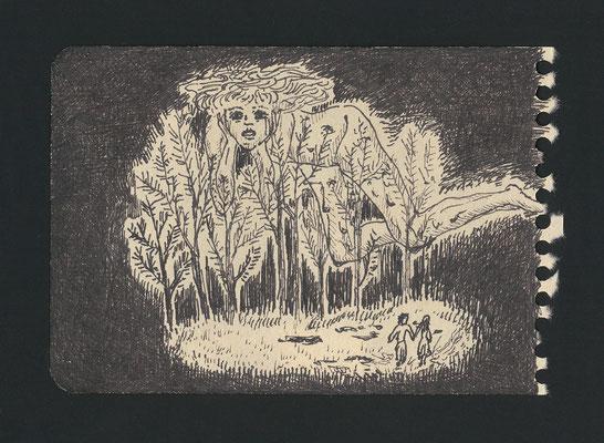 雑木林に連れ込まれる pen/2014 11.5×8